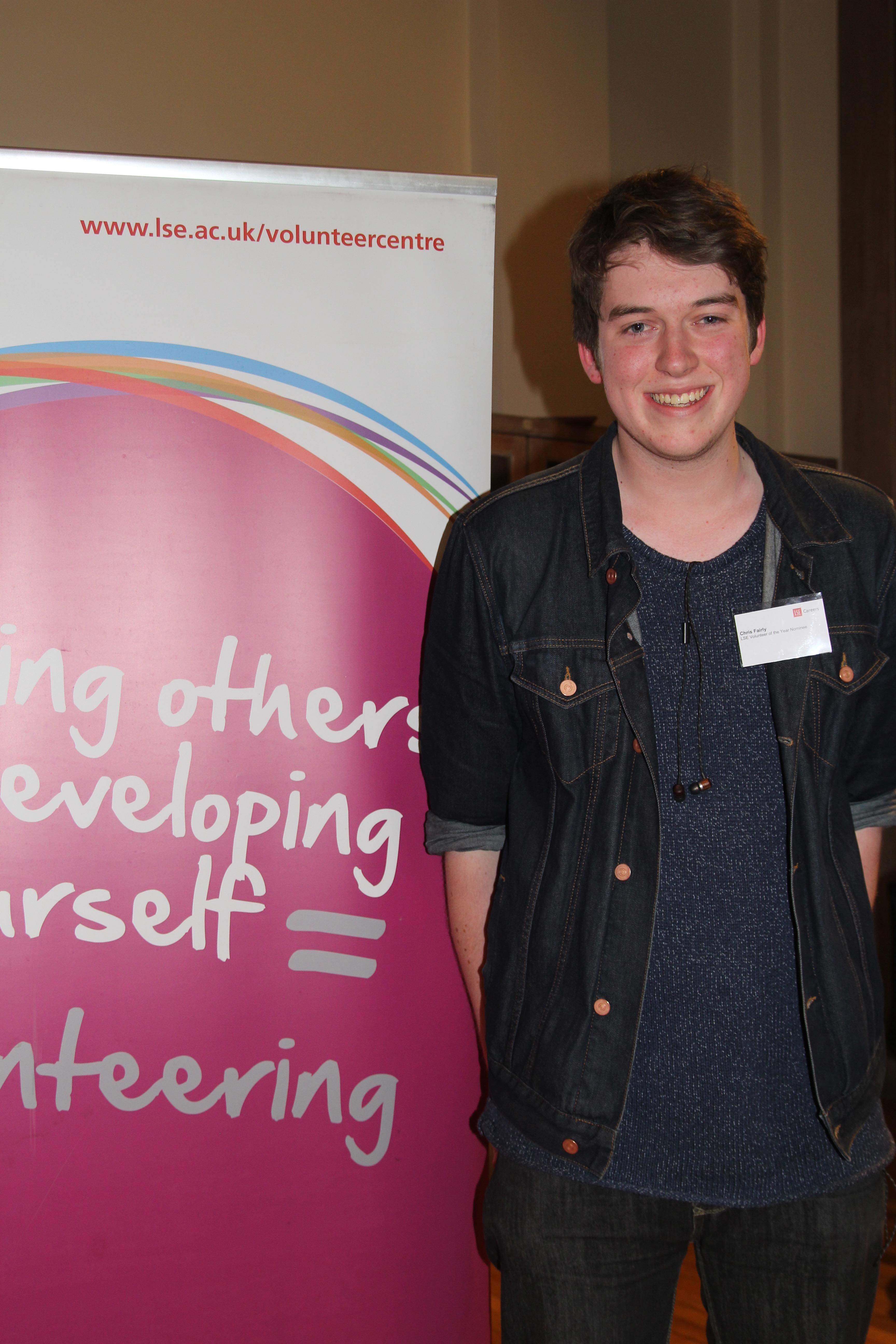 LSE Volunteer of the Year 2016, Chris Fairley