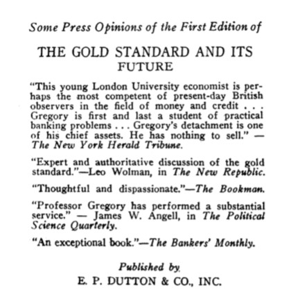 US edition of The Gold Standard