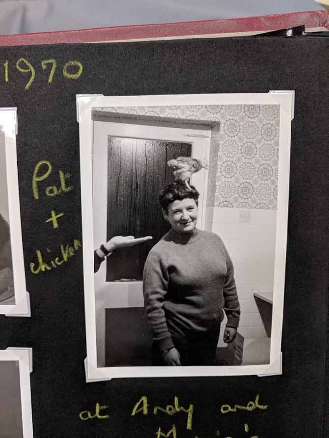 """""""Pat and Chicken"""" Photograph album. Credit: LSE Library"""