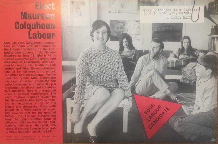 Maureen Colquhoun election leaflet 1970. Credit LSE Library