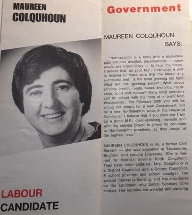 Maureen Colquhoun election leaflet 1974. Credit LSE Library